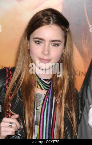 Mar 25, 2010 - Los Angeles, California, USA - Actress LILY COLLINS  at the 'The Last Song' Los Angeles Premiere - Stock Photo