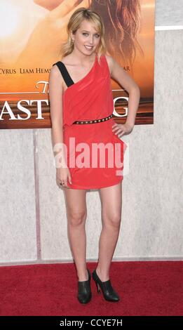 Mar 25, 2010 - Los Angeles, California, USA - Actress MEGAN PARKS  at the 'The Last Song' Los Angeles Premiere held - Stock Photo