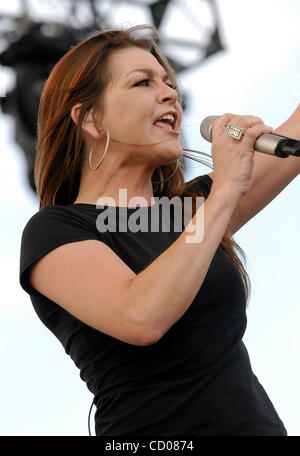May 4, 2008; Indio, CA, USA; Musician GRETCHEN WILSON performing during the 2008 Stagecoach Country Music Festival - Stock Photo