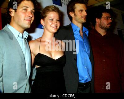 PAUL RUDD, GRETCHEN MOL,FREDERICK WELLER, AND NEIL LA BUTE..K30505ML.PREMIERE OF THE ''SHAPE OF THINGS'' AT THE - Stock Photo