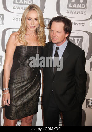 Apr. 10, 2011 - New York, New York, U.S. - Actor MICHAEL J. FOX and actress TRACY POLLAN attend the 2011 TV Land - Stock Photo