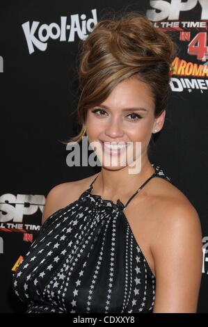 July 31, 2011 - Hollywood, California, U.S. - Actress JESSICA ALBA arrives at the 'Spy Kids: All The Time in The - Stock Photo