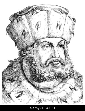 Frederick III or Frederick the Wise, 1463 - 1525, Elector of Saxony, Germany - Stock Photo