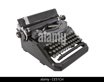 Old typewriter isolated on white. - Stock Photo