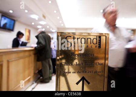 Strand Palace Hotel, Strand, London, England, United Kingdom - Stock Photo