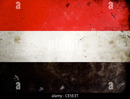 Flag on old and vintage grunge texture - Stock Photo