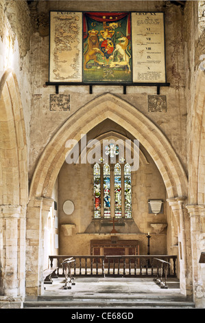 Mainly thirteenth century village church at Aldwincle, England. - Stock Photo