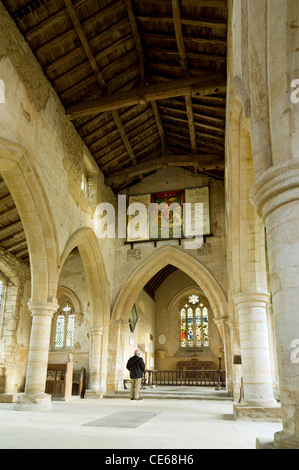 Mainly thirteenth century village church at Aldwinkle, England. - Stock Photo