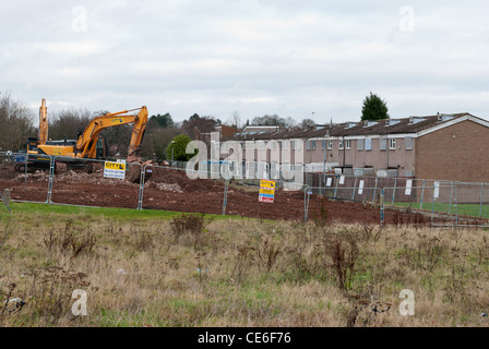 Demolition of a 1970's council estate in King's Norton, Birmingham - Stock Photo