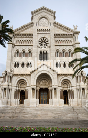 Monte Carlo Cathedral (Cathedrale de Monaco) - Stock Photo