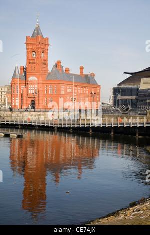 Pierhead building in Cardiff Bay - Stock Photo