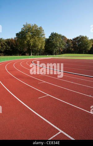 Running track lines on a sunny day - Stock Photo