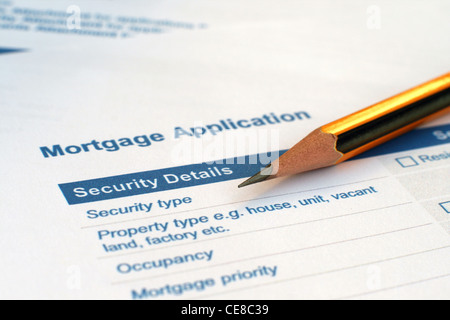 Mortgage application - Stock Photo
