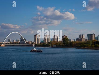 Ishim River in Astana, Kazakhstan - Stock Photo