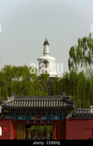 The White Pagoda, Beihai Park, Xicheng District, Beijing, China, Asia. - Stock Photo