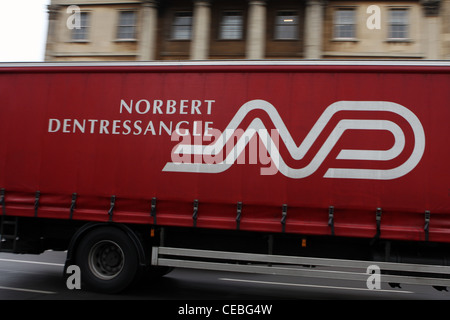 A Norbert Dentressangle truck traveling along a road in London - Stock Photo