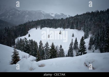 Mountain landscape in Bavaria, Munich, Europe - Stock Photo