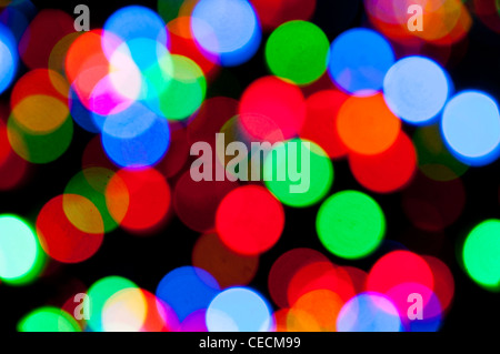 Christmas lights abstract - Stock Photo