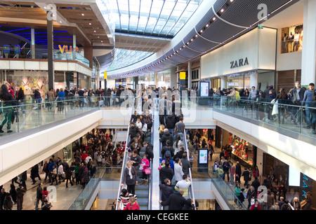 Westfield Stratford City Shopping Centre - Stratford - London - Stock Photo