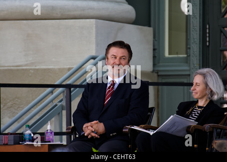 Alec Baldwin and law school dean Martha Minow at the HLS Commencement 2011 (Harvard Law School graduation) in Cambridge, - Stock Photo