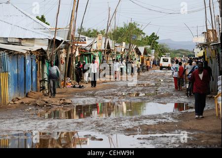 Africa KENIA Turkana Region, refugee camp Kakuma , UN organizations as WFP UNHCR and LWF give relief service to - Stock Photo