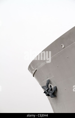 View of the bow of a large ship - Stock Photo