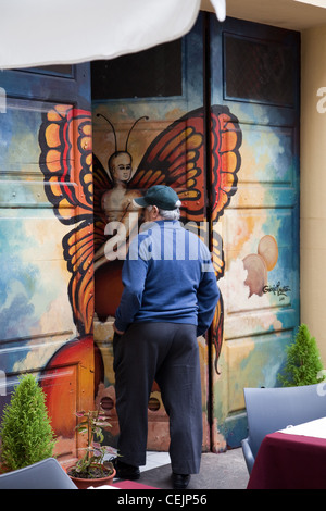 Zona Histroica do Funchal_Portas com Arte_Doors with Art in Funchal, Madeira Portugal. - Stock Photo
