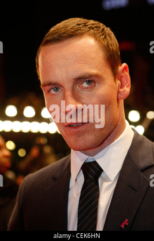 Actor MICHAEL FASSBENDER arrives for the screening of the film 'Haywire' at the 62nd International Film Festival - Stock Photo