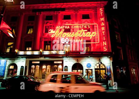 The Mousetrap St Martins theatre London longest run - Stock Photo