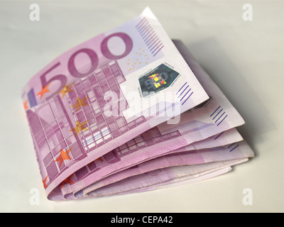 Euro banknote (currency of the European Union) - Stock Photo