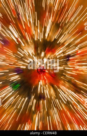 blurred lights abstract Christmas - Stock Photo