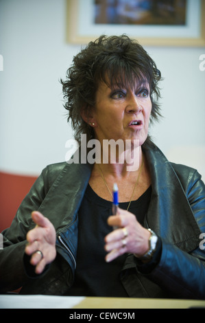 Meri Huws Chairwoman of the Welsh Language Board and Welsh Language Commissioner - Stock Photo
