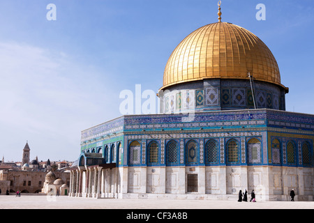 Israel, Jerusalem,Dome of the Rock on Temple Mount - Stock Photo