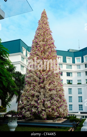 Christmas tree, Hotel Sofitel Metropole, Hanoi, Vietnam - Stock Photo