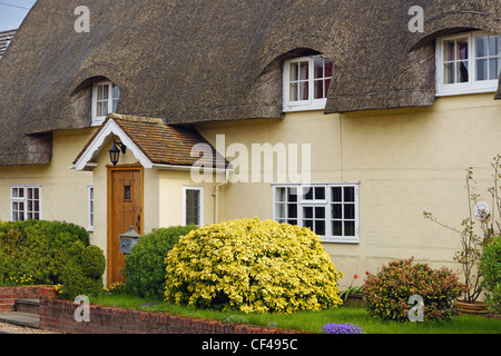 Rectory Cottage in Elmdon. - Stock Photo