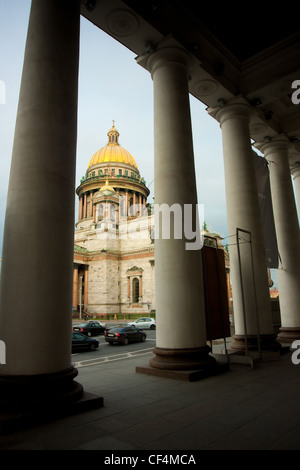 Russia Saint-Petersburg Saint Isaac's Cathedral or Isaakievskiy Sobor - Stock Photo