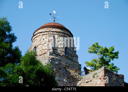 The cupola on Colchester Castle. Colchester Castle is now a public museum showing Colchester's history from the - Stock Photo
