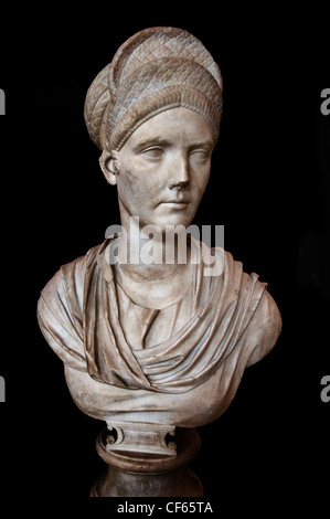 Salonina Matidia  87 - 117 AD niece of Emperor Trajan  mother-in-law of Emperor Hadrian Marble Roman Rome Italy - Stock Photo