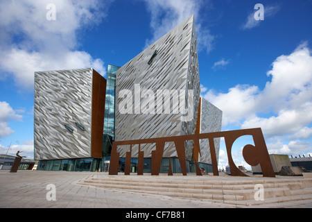 titanic signature building museum titanic quarter belfast northern ireland - Stock Photo