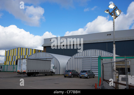 the paint hall film studios titanic quarter belfast northern ireland site of filming of game of thrones - Stock Photo