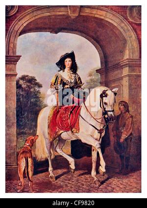 Equestrian Portrait by Sir Edwin Landseer - Stock Photo