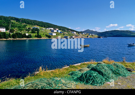 Boats in Ship Harbour, Newfoundland and Labrador, Canada. - Stock Photo