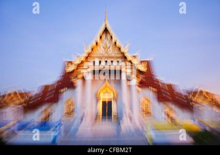 Thailand, Bangkok, Wat Benchamabophit aka Marble Temple - Stock Photo