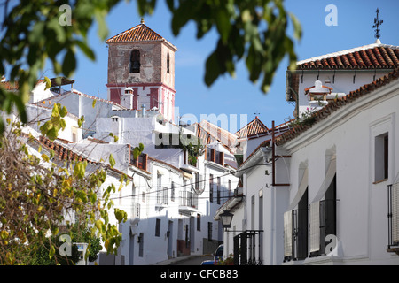 Gaucin, one of the white villages of  Andalusia, Andalusia, Spain - Stock Photo
