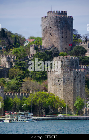 Rumeli Hisarıa fortress located in the Sarıyer district of Istanbul, Turkey, on a hill at the European side of the - Stock Photo