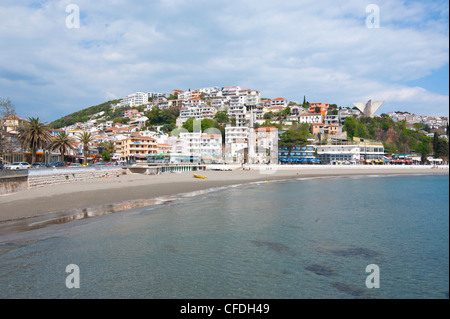 Coastal town of Ulcinj, Montenegro, Europe - Stock Photo