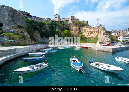 Old castle in the coastal town of Ulcinj, Montenegro, Europe - Stock Photo