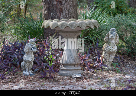 The Garden of Love pet memorial park and cemetery in Micanopy, Florida. - Stock Photo
