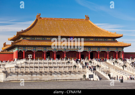 Hall of Supreme Harmony, Outer Court, Forbidden City, Beijing, China, Asia - Stock Photo