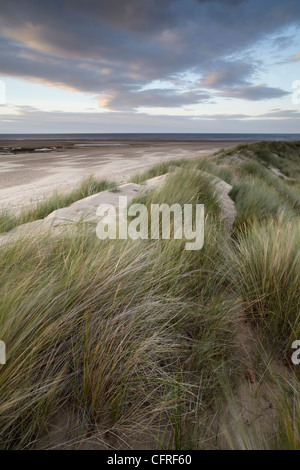 Low tide on a late summer evening at Brancaster, Norfolk, England, United Kingdom, Europe - Stock Photo